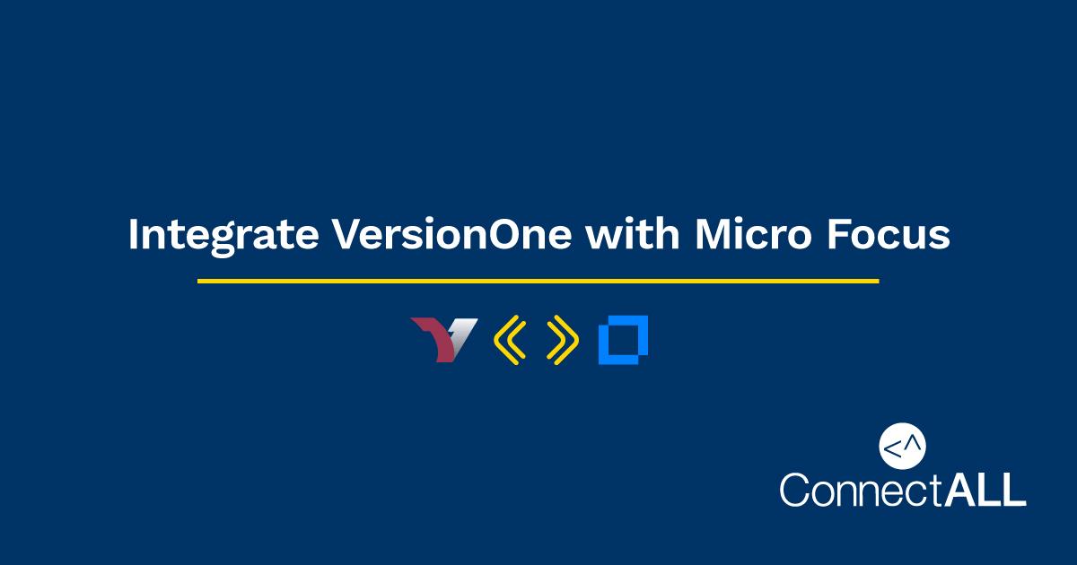 Integrate VersionOne with Micro Focus ALM
